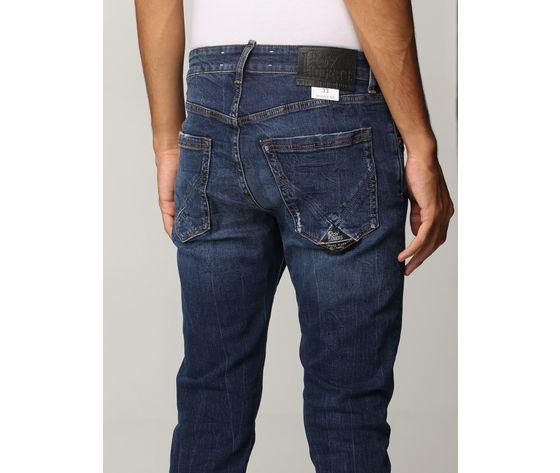 Jeans uomo skinny fit roy roger's 317 in denim strestto cuerecanti art. a21rru076d3171919 2