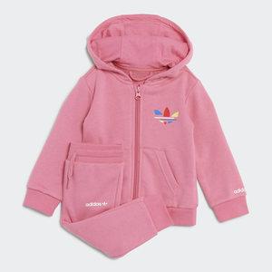 Tuta Adidas Adicolor full- zip Hoodie Rosa Bambina Art. H25230