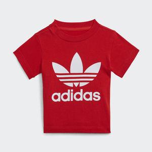 T- shirt Adidas Trefoil Rossa Bambini Art. H34605