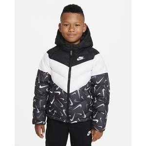 Giubbino Nike Sportswear Therma-FIT Ragazzo Nero Bianco con cappuccio Art. DD8590 010