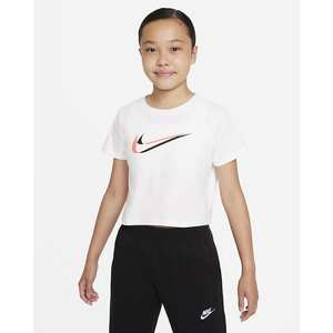 T-shirt Cropped Ragazza Nike Sportswear Bianca con logo Art. DM4697 100