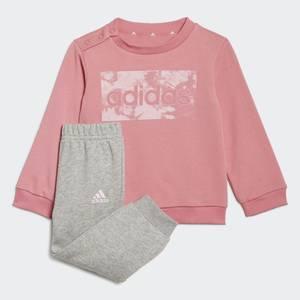 Completo Tuta Felpa- Pantalone Adidas Essential Rosa Grigio bambina Art. GS4279