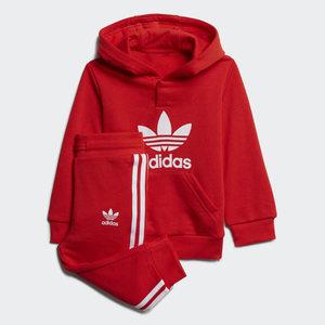 Completo Tuta Adidas Adicolor Rossa Bianca Bambini Unisex Art. H25219