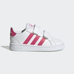 Sneakers Bambina Adidas Grand Court Bianco Fuxia Glitter Art. EG3815