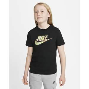 T-shirt Ragazzo Nera con Logo Nike Sportswear Art. DJ6618 010