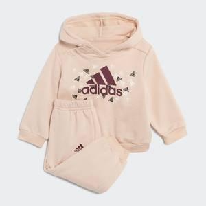 Completo Felpa con Cappuccio e pantalone Adidas Rosa Bambina Badge of Sport Graphic Art. H28845