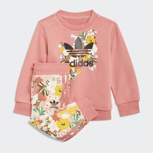 Completo Adidas tuta Bambina rosa London Floral Art. GN2256
