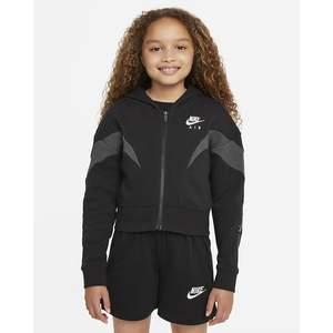 Felpa Nike con cappuccio e zip Ragazza Nike Air  Nero Grigio Art. DD7137 010