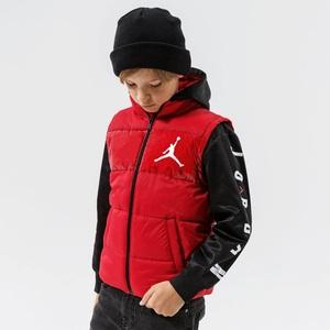 Giubbotto Invernale con Cappuccio Jordan Bambini- Ragazzi Rosso Nero Art. 95A625 R78