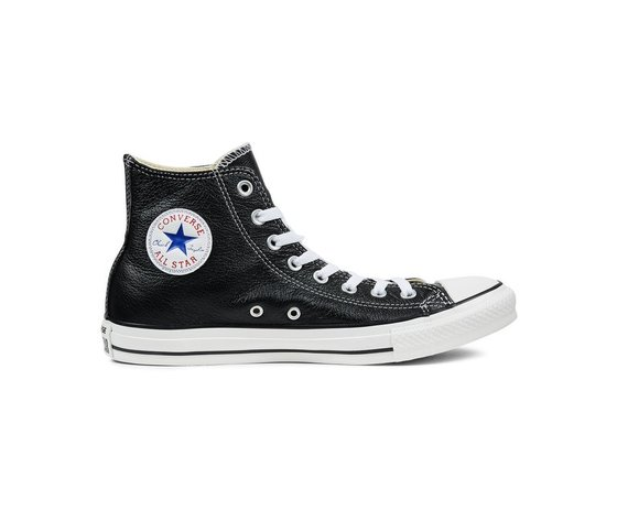 Sneakers converse all star hi leather black 45663 674 1