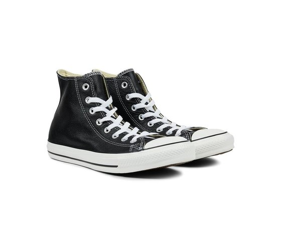 Sneakers converse all star hi leather black 45663 674 3