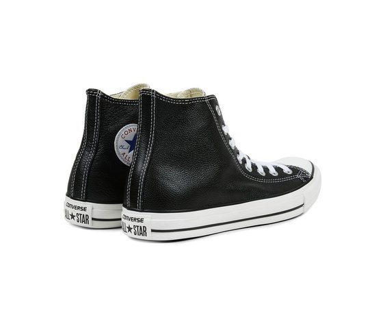 Sneakers converse all star hi leather black 45663 674 4