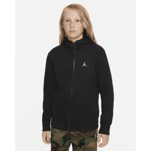 Giacca Jordan Essentials con Zip e cappuccio Ragazzi Nera Art. 95A714 023