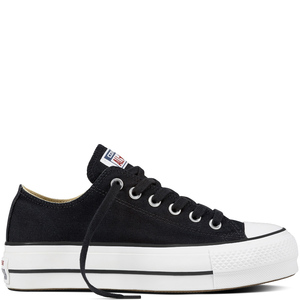 Converse All Star Nero Platform Basse Art. 560250C