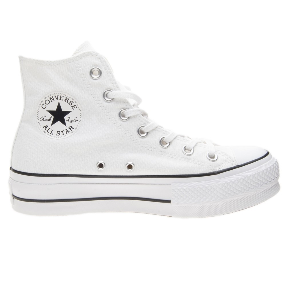 converse all star platform bianche
