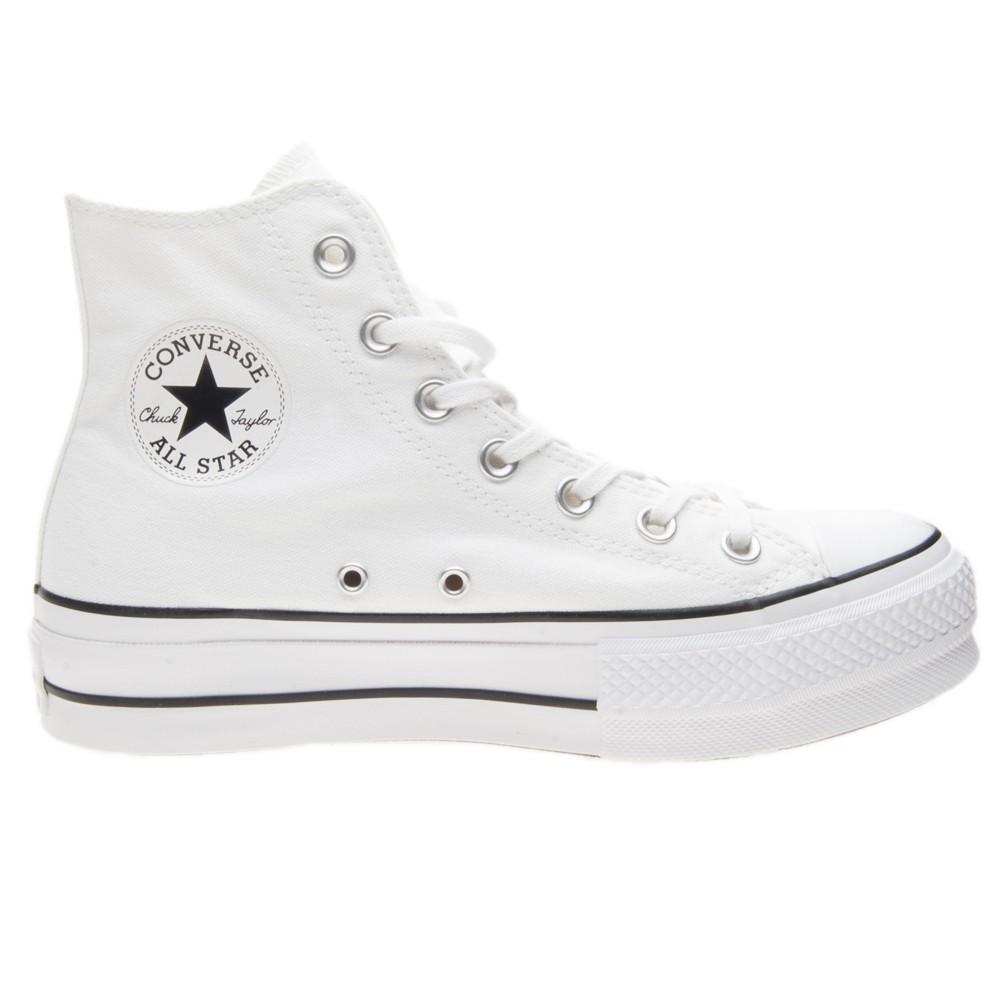 a basso prezzo 82757 c5b52 Converse All Star Bianco Sneakers Platform Alte Art. 560846C