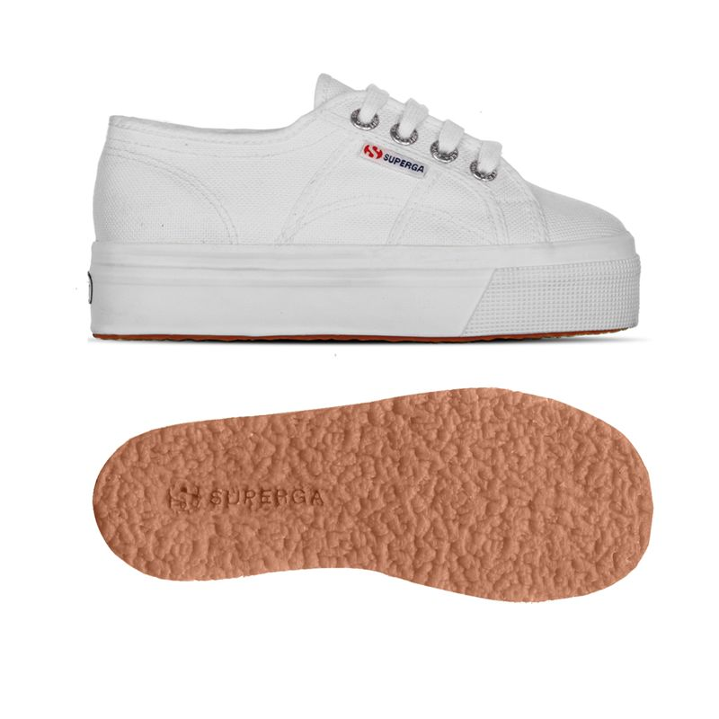 in vendita 72d04 cb54d Superga 2790 Bianco Sneakers Junior Bambina Platform Zeppa Art. S007WQ0 901