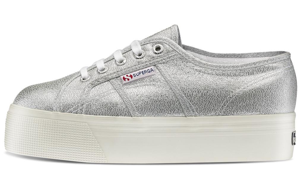 taglia 40 ccc05 168c8 Superga 2790 Silver Argento Glitterato Lamew Sneakers Tela Platform Art.  S009TC0 031