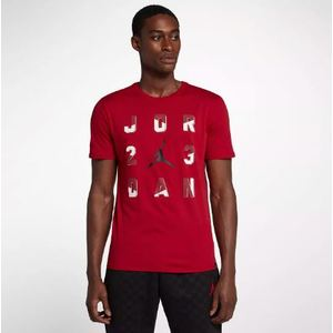 T-Shirt Jordan Rosso con Logo Art. 916052 687 NIG