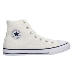 Converse All Star Macramew Heart Pizzo Bianco Art. 661036C
