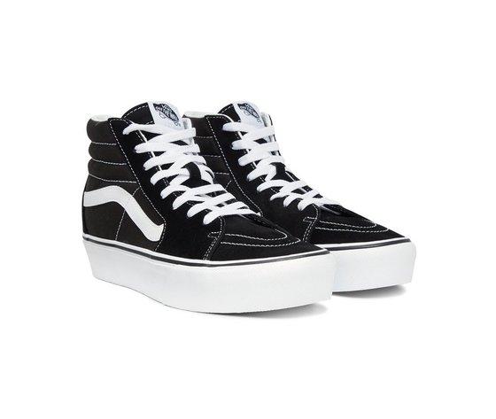 Sneakers vans sk8 hi platform 2 black true white 154028 674 2