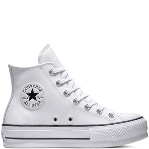 Converse All Star Platform Lift Bianco Pelle Art. 561676C