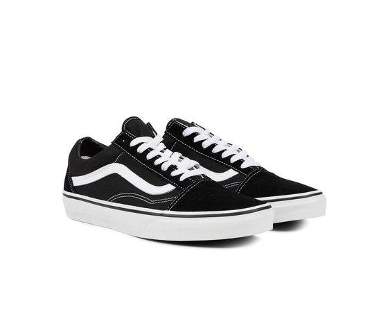 Scarpe Old Skool Nere Striscia Bianca Unisex Classiche Sneakers ...