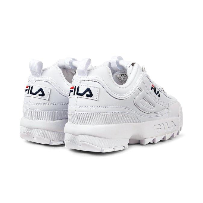 fila platform trainers bianche