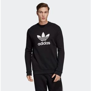 Felpa Adidas Felpa Trefoil Warm Up Crew Nero Art. CW1235