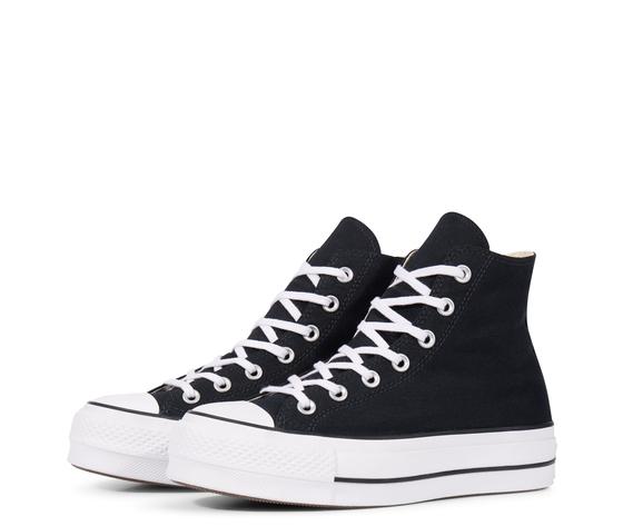 Converse All Star Nero Sneakers Platform Alte Art. 560845C - colbaffo