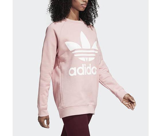 enorme sconto 1e693 2a12a Felpa Adidas Originals Rosa Pink Oversize Adicolor Girocollo Donna Ragazza  Art. DH 4432