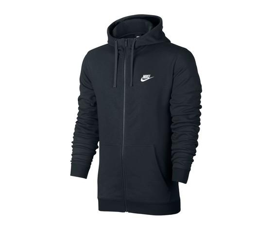 Nike felpa cap zip club black