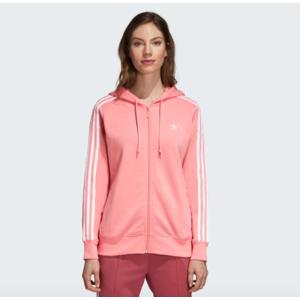 Adidas Giacca con Zip Hoodie 3 Stripes Zip Rosa e Cappuccio Art. DN8150