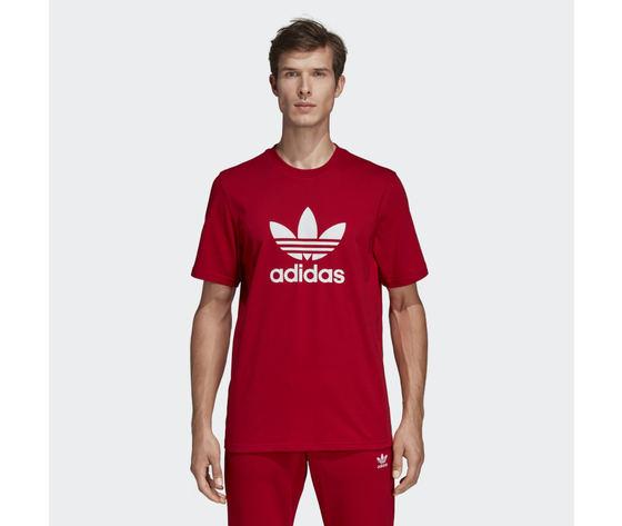 T shirt trefoil rosso dx3609 21 model