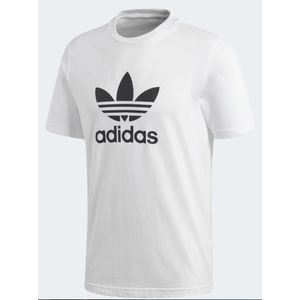 Maglietta Adidas Trefoil Bianca Cotone Uomo art. CW0710