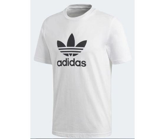 Adidas Maglietta Bianca Cotone Trefoil abbigliamento uomo art. CW0710