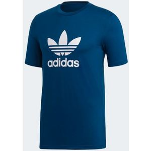 Maglietta Adidas Blu Trefoil Logo bianco art. DV1603