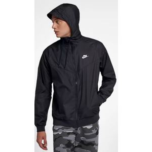 Giacca Nike Colore Nero Cappuccio Sportswear Windrunner Uomo art. 727324-010