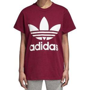 Maglietta Adidas Colore Bordeaux in cotone Donna art. DH4430