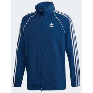 Giacca a vento Adidas cappuccio e zip bidirezionale colore blu Uomo art. DV1582
