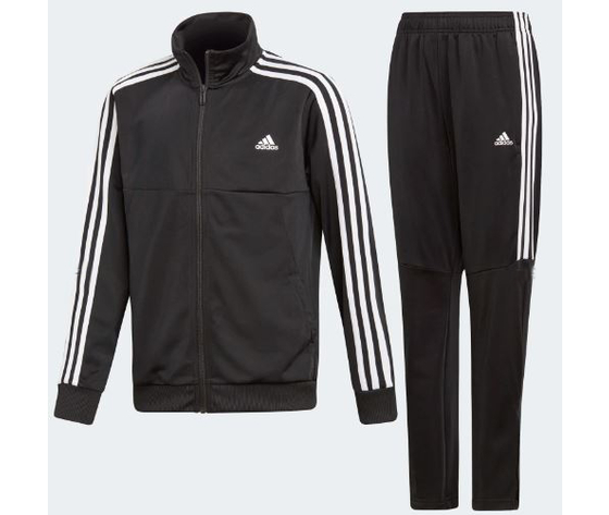 178b7fc2f2 Adidas Tuta colore nero e bianca in tricot traspirante abbigliamento uomo e  donna art. DV 1738