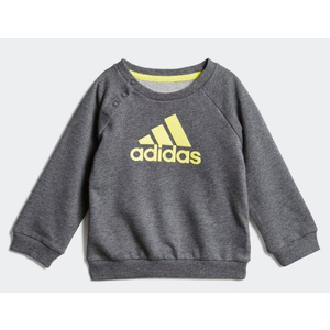 Tuta Adidas in spugna colore grigio e giallo bambini art. DV1283