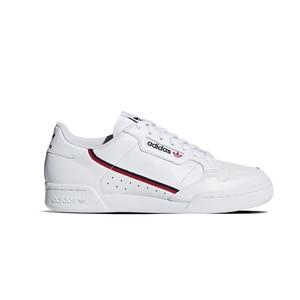 Adidas Continental 80 Uomo Sneakers Bianche striscia rosso nera art. G27706