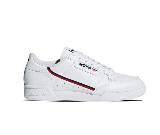 pretty nice bbd93 5e388 Scarpe Adidas Continental 80 Sneakers Bianche con striscia rosso nera  sportive uomo art. G27706