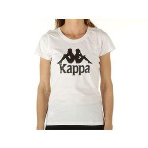 Maglietta Kappa bianca donna Edda logo nero T-Shirt art. 305026 001