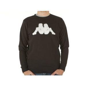 Felpa Kappa nera logo bianco e grigio uomo Tarvit art. 303GCI0 905