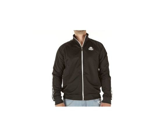 brand new 18157 ad625 Kappa giacca nera con chiusura zip Elias abbigliamento uomo art. 305009 005