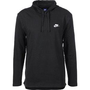 Felpa Nike Sportswera Hoodie nero con cappuccio logo bianco uomo art. 807249 010