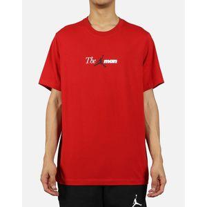Maglietta Jordan The Man rosso logo jumpman t-shirt uomo art. AO0684 687