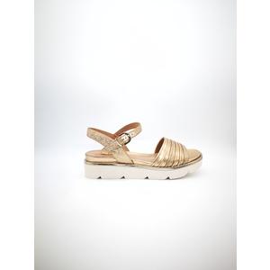 Sandalo basso Luciano Barachini Pelle laminato Peach rame rosé art. CC121G